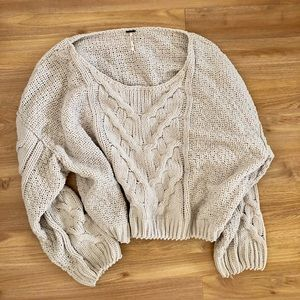 Free People Chunky Cable Knit Sweater